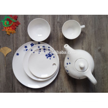 6pcs decal bone china dinner set